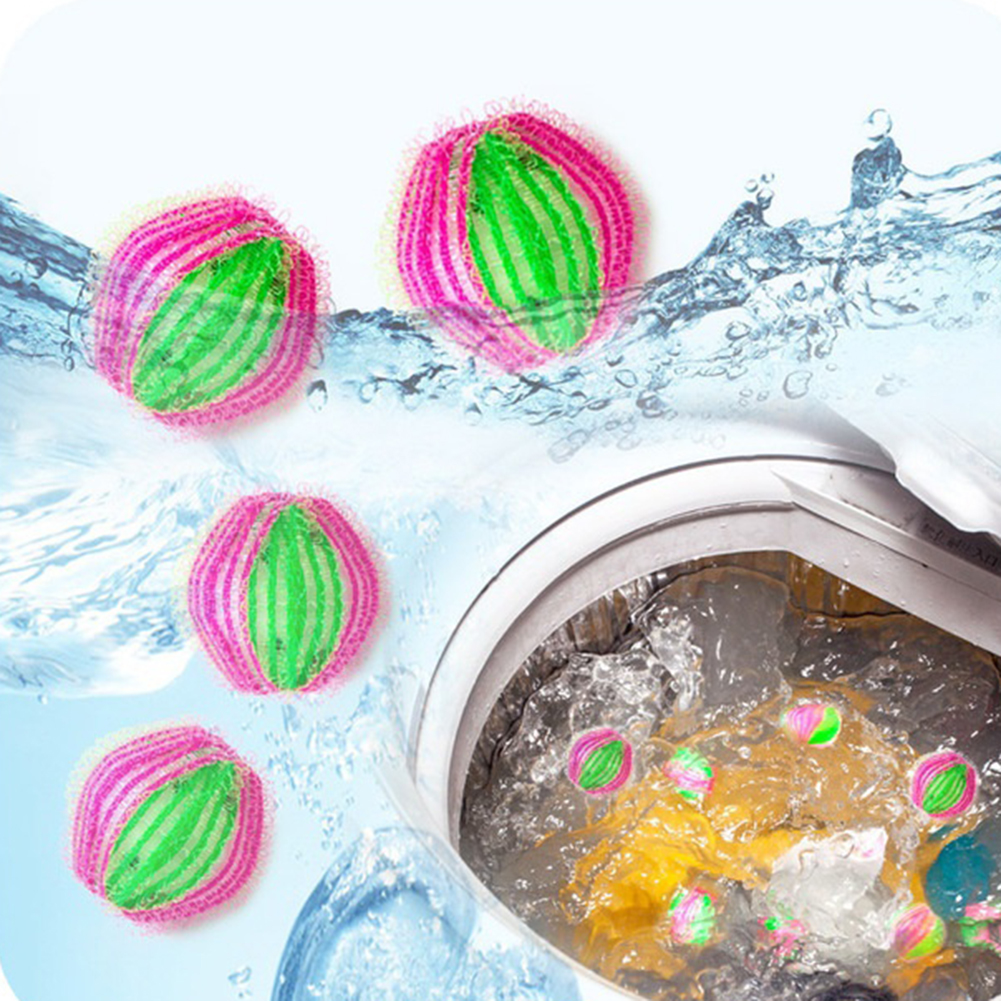 Micelec 6Pcs Magic Hair Pilling Remover Laundry Clothes Washing Machine Cleaning Ball