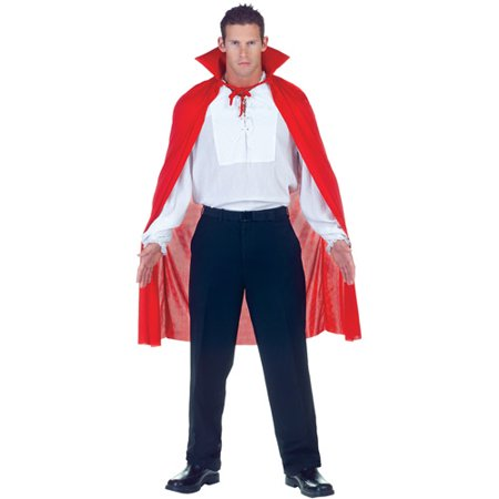 Red Cape Adult Halloween Accessory](Halloween Red Hooded Capes)