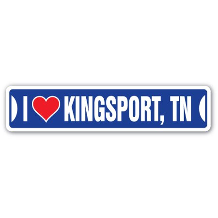I LOVE KINGSPORT, TENNESSEE Street Sign tn city state us wall road décor gift