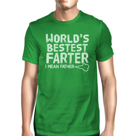365 Printing World's Bestest Farter Mens Green Round Neck T-Shirt Humorous Gifts