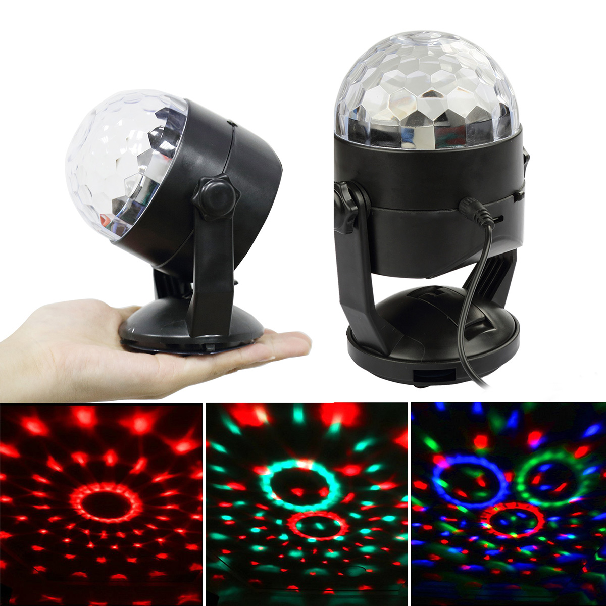 CoastaCloud RGB LED Crystal Magic Ball Stage Lighting with Sucker RGB Crystal Magic Rotating Ball For KTV Xmas Party... by CoastaCloud