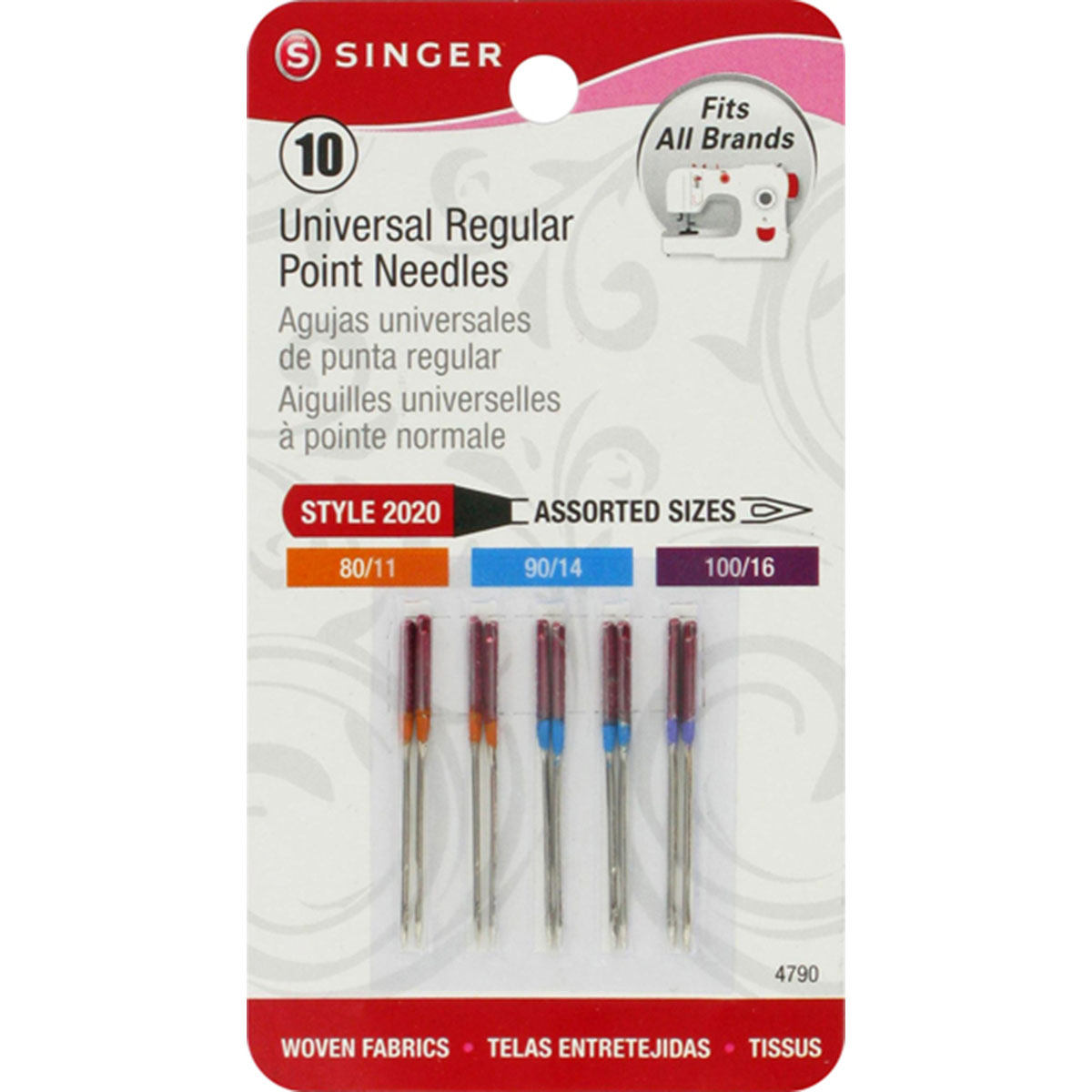Singer Universal 10 pack Regular Point Needles Style 2020
