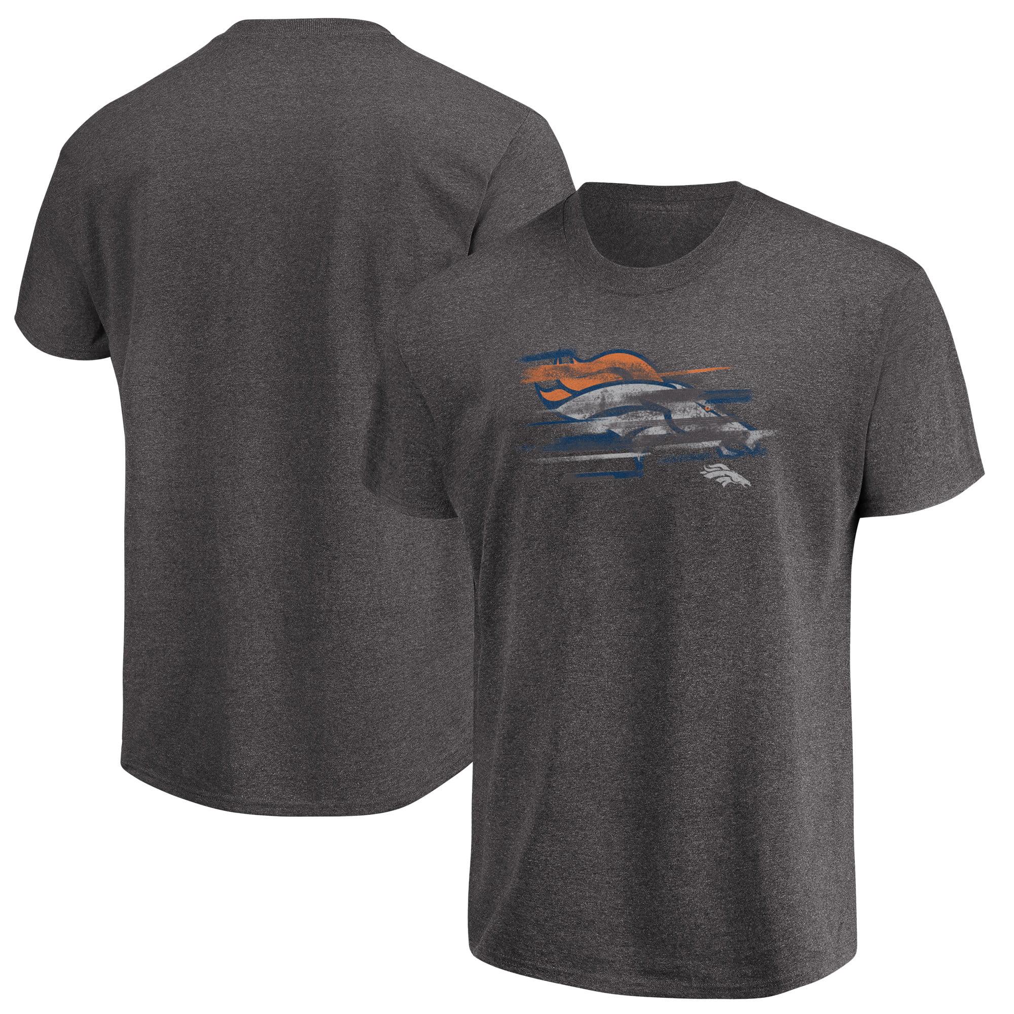 Denver Broncos Majestic Big & Tall Fierce Intensity T-Shirt - Heathered Charcoal