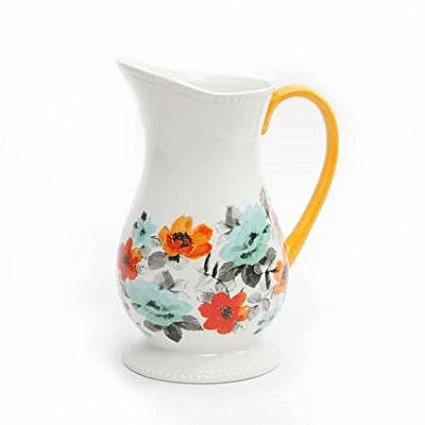 Flea Market Decorated Floral 2-Quart Pitcher (1), 2 qt ceramic pitcher By The Pioneer Woman
