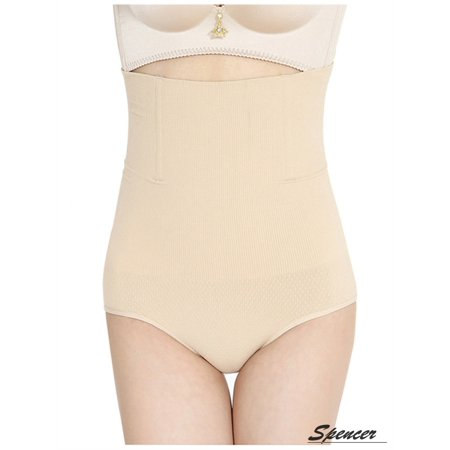 d91f2e53f11 Spencer - Spencer Women s High Waist Thong Brief Shapewear Seamless Waist  Cincher Slimming Tummy Control Shaping Panties Underpant