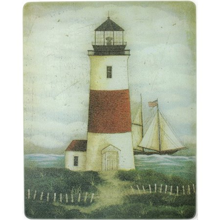 - Vance 15 X 12 inch David's Lighthouse Surface Saver Tempered Glass Cutting Board, 81512DLH