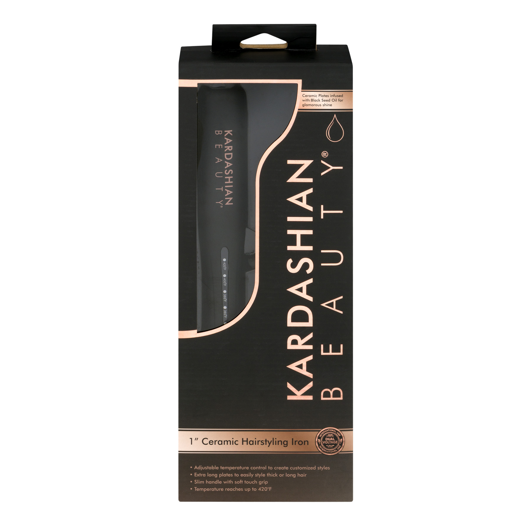 "Kardashian Beauty 1"" Ceramic Hairstyling Iron, 1.0 CT"
