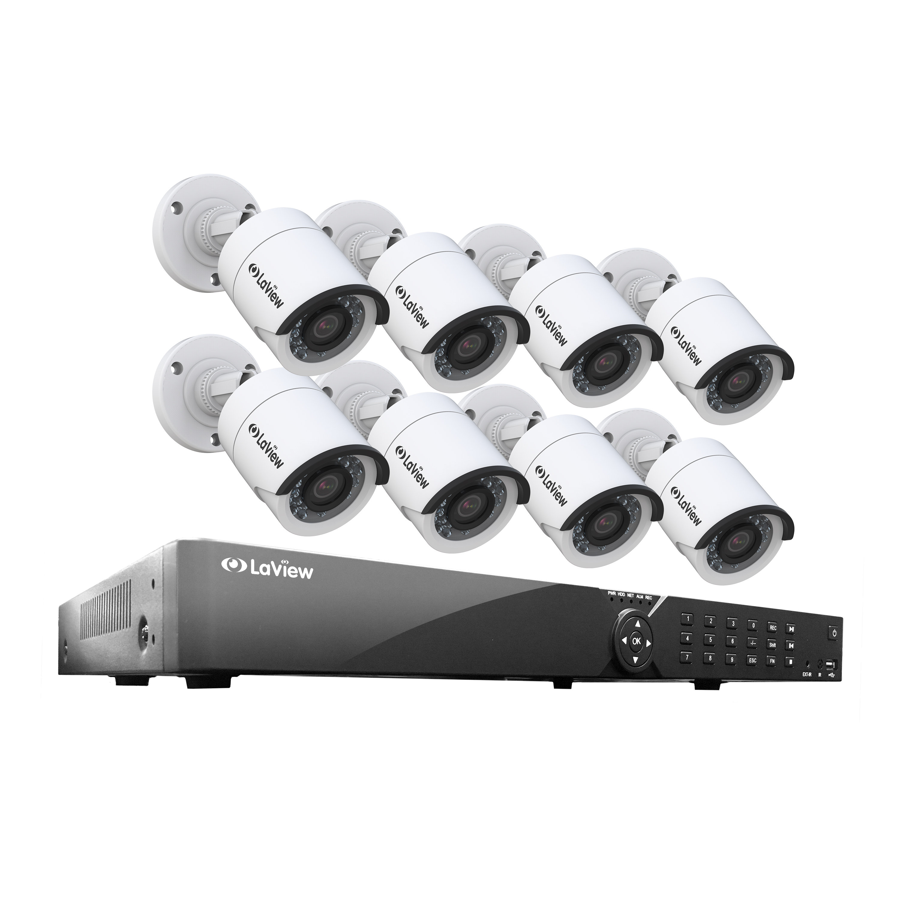 LaView 16 Channel DVR Security System W/8 HD 1080P Indoor/Outdoor Surveillance Cameras- Built in Storage 1TB HDD, Motion Detection, Remote View, Instant Mobile Notifications/Alerts