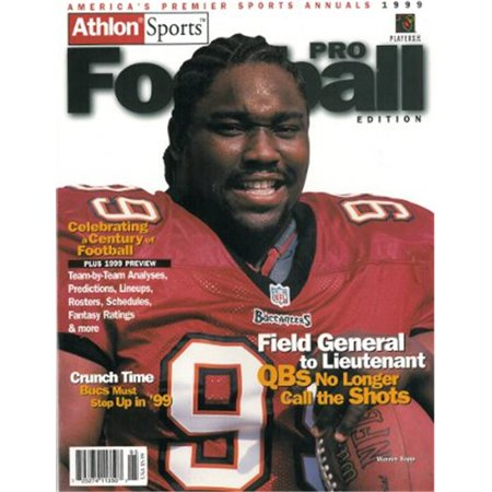 Athlon Ctbl 012504 Warren Sapp Unsigned Tampa Bay Buccaneers Sports 1999 Nfl Pro Football Preview Magazine