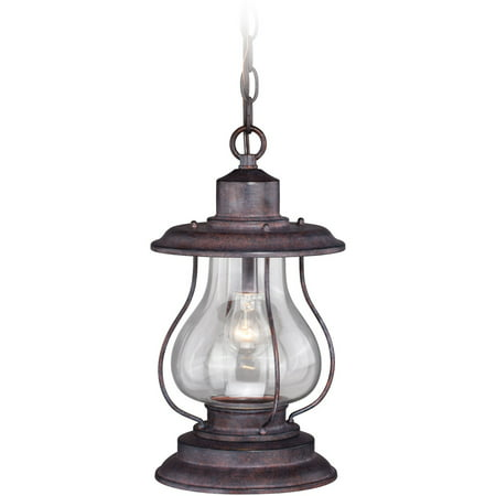 Outdoor Pendant 1 Light Fixtures With Weared Patina Finish Steel Material Medium 8