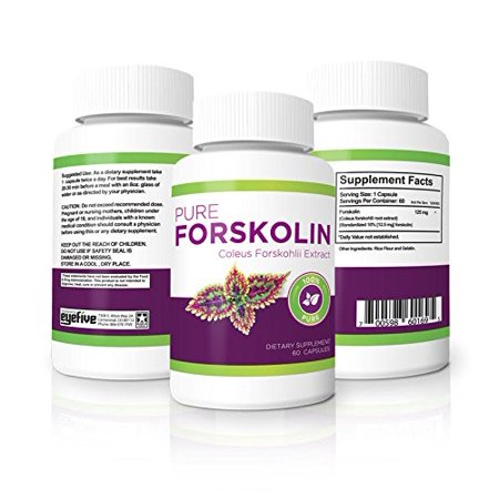 (Vitality Max Labs 100% Pure Forskolin 125 mg Weight Loss Pills, 60 Ct)