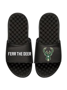 Milwaukee Bucks ISlide Youth Team Slogan Slide Sandals - Black