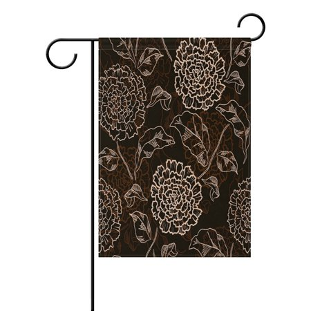 POPCreation Vintage Floral Flower Garden Flag Shabby Chic Flower Outdoor Flag Home Party 28x40 inches ()