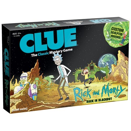 Rick   Morty Clue Board Game  Solve The Mystery Of Who Stole The Plans To Ricks Portal Gun By Usaopoly