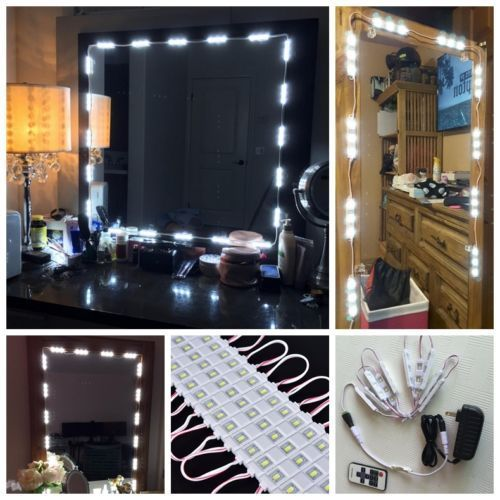 White Dressing Mirror Lighting String Kit Cosmetic Makeup Vanity Mirror Light~~^^ by