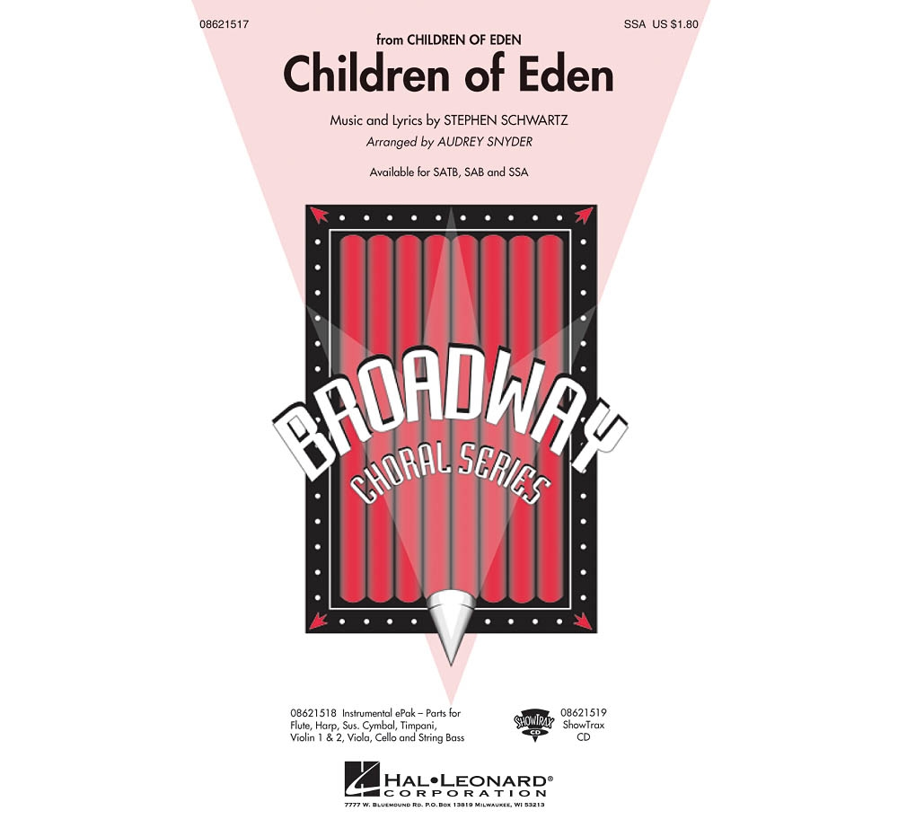 Hal Leonard Children of Eden SSA arranged by Audrey Snyder by Hal Leonard