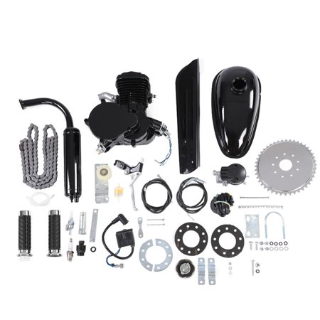 Ashata 80CC Bicycle Engine Kit 2 Stroke Gas Motorized Bike Motor DIY Set  with Tools , Motorized Bike Motor Kit, Motorized Bike Engine Kit