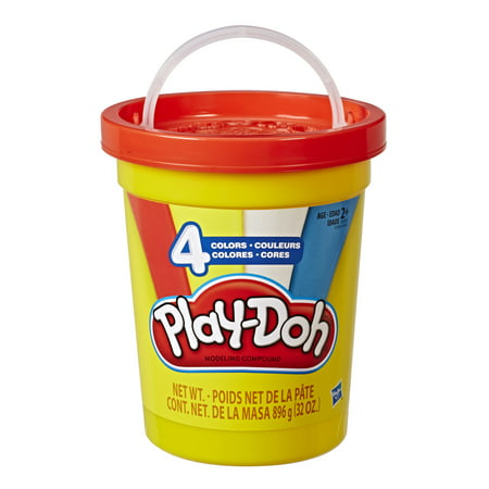 Play-Doh Bulk Super Can of Non-Toxic Modeling Compound with 4 Colors ()