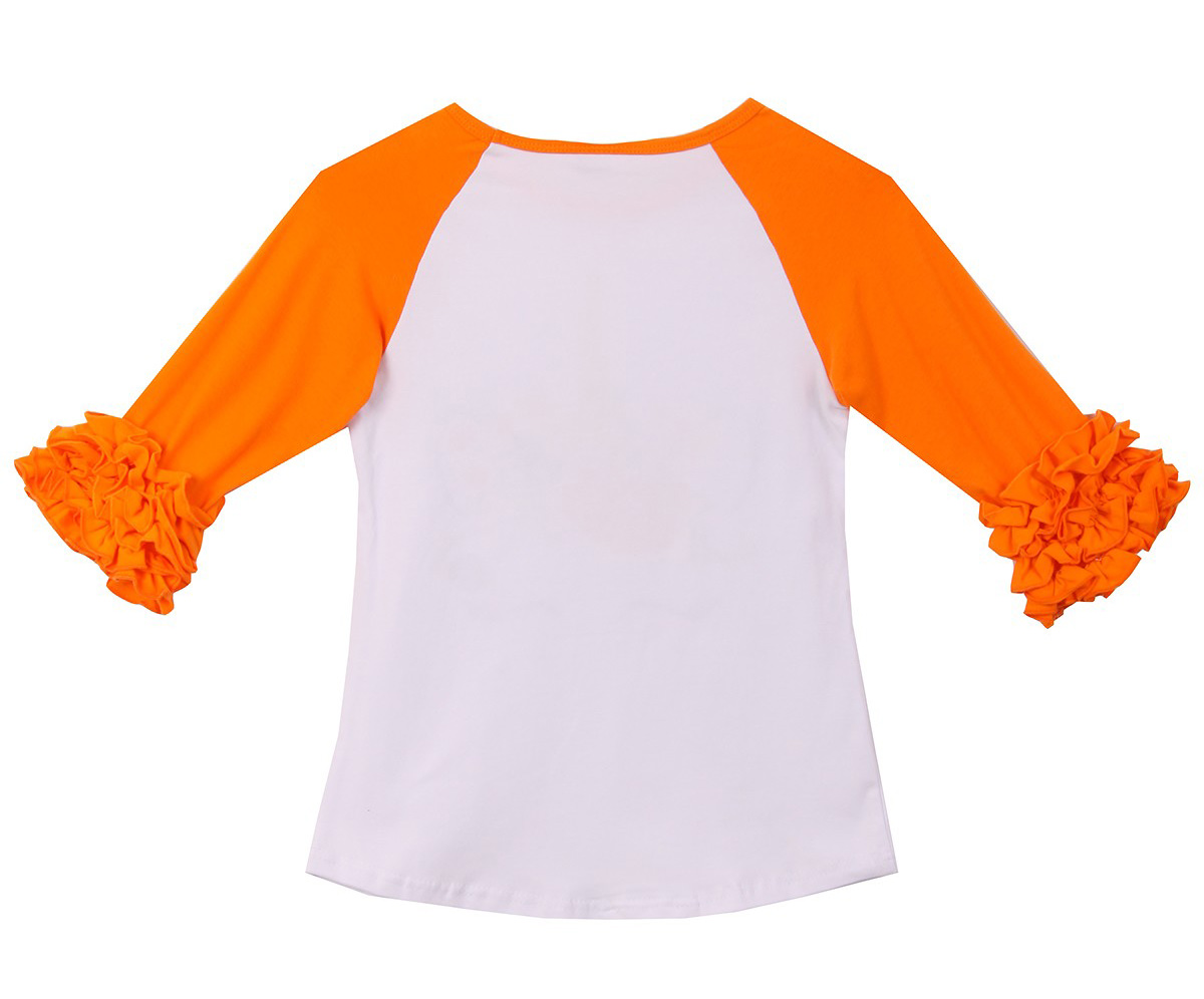 Yellow-1, 3T Baby Kids Girl Unicorn Halloween Pumpkin Car Print Ruffle Polka Dot Long Sleeve Cotton T-Shirt Top Outfits