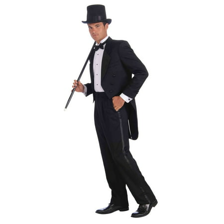 Mens Vintage Hollywood Tuxedo Adult Plus Halloween Costume