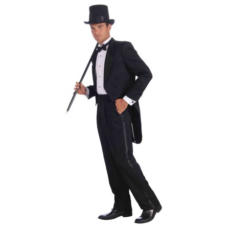 Mens Vintage Hollywood Tuxedo Adult Plus Halloween Costume - Halloween Costume Vintage