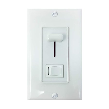 Light Dimmer Switch for LED Lights, Incandescent, Halogen, or CFL Lamps - Knob Dimming Light Switch Includes Wall Plate