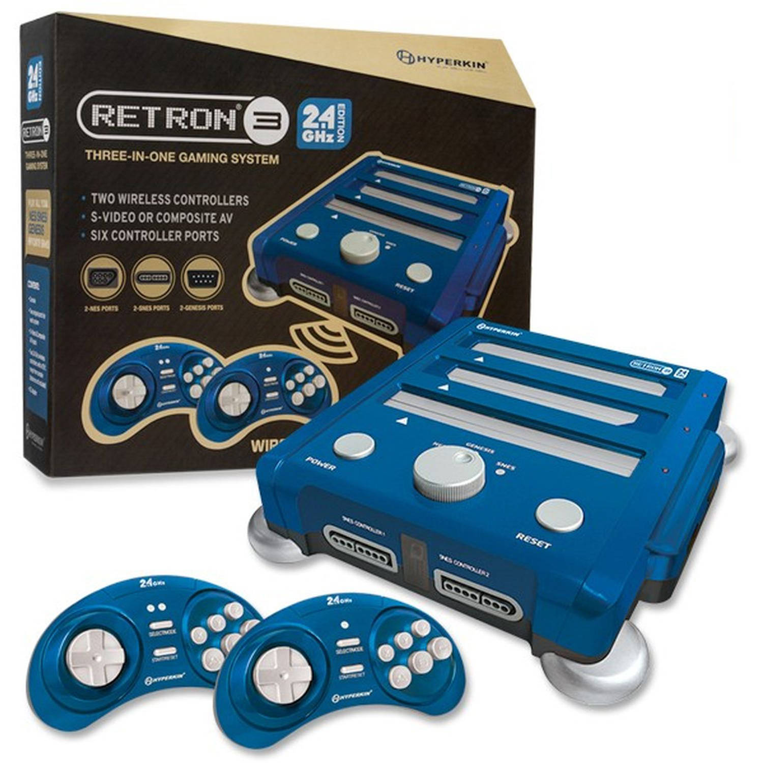 RetroN 3 Hyperkin 3-in-1 Console, Blue