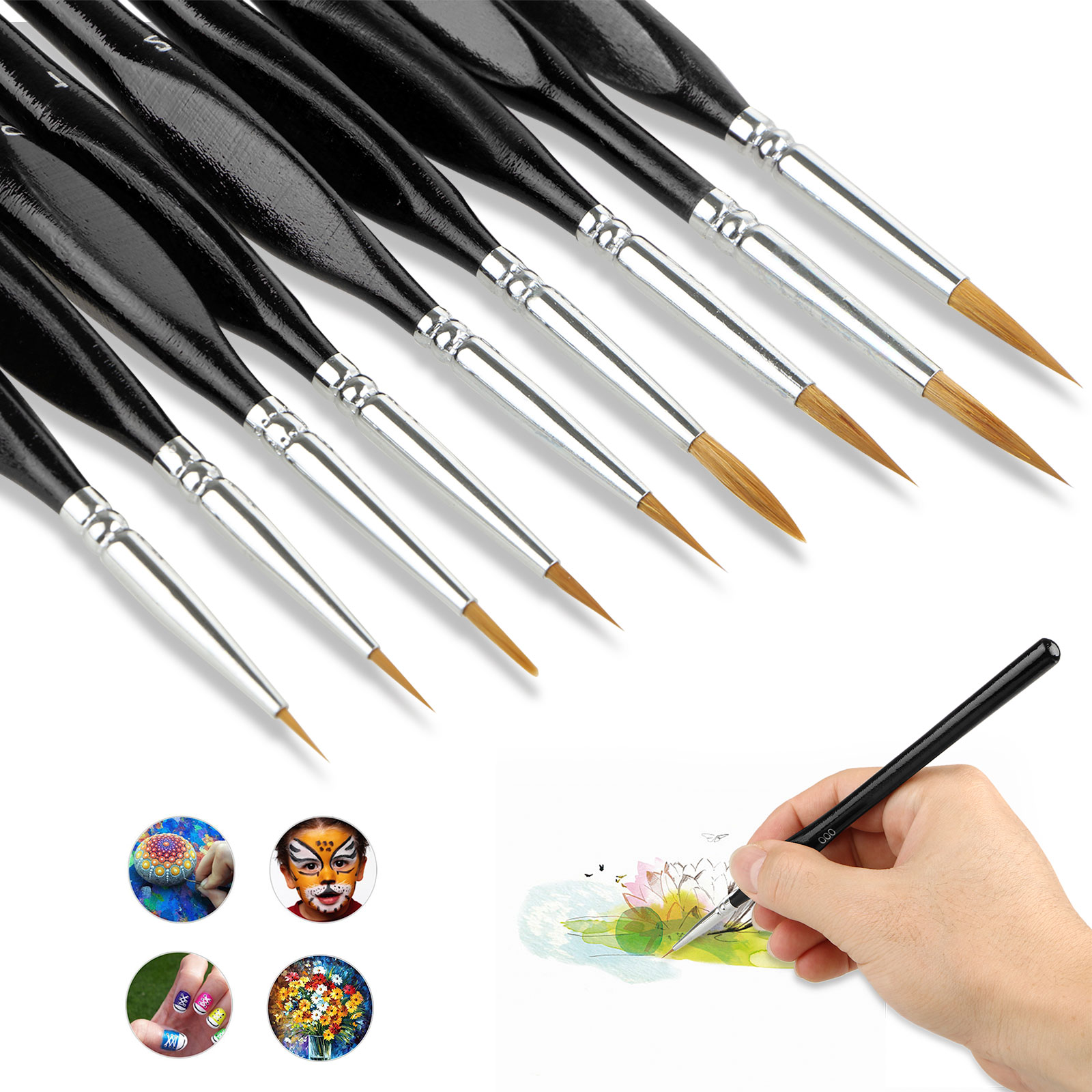 Paint Brushes Set, EEEkit Paint Detail Brushes Set Fine ...