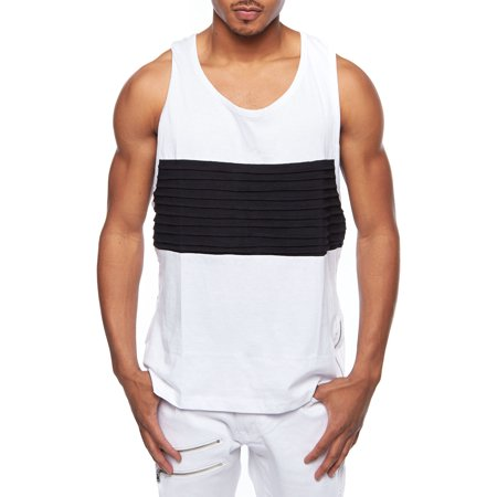 Mens Colorblock Muscle Tank Top Fashion Sleeveless T-Shirt 390T for $<!---->