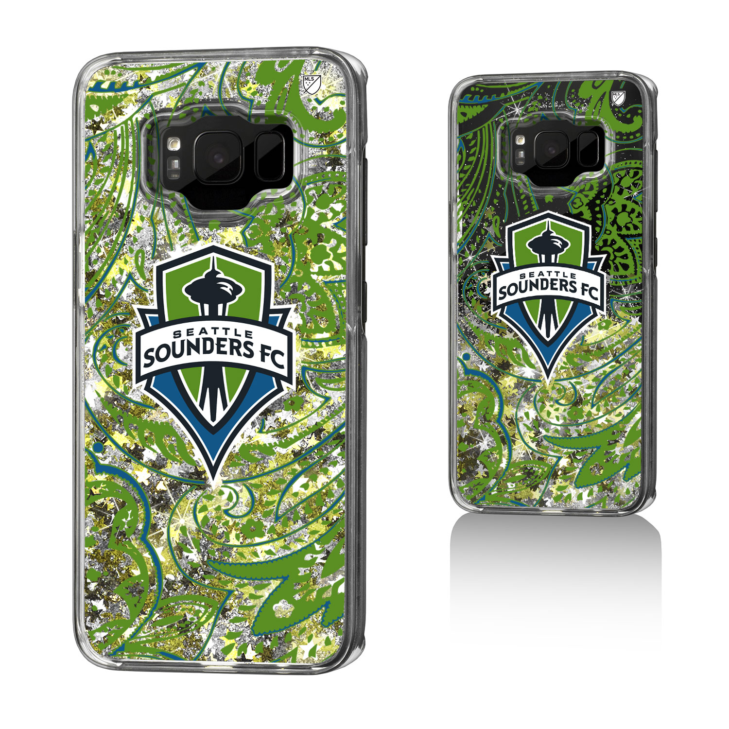 Seattle Sounders SOUNDERS FC Paisley Glitter Case for Galaxy S8