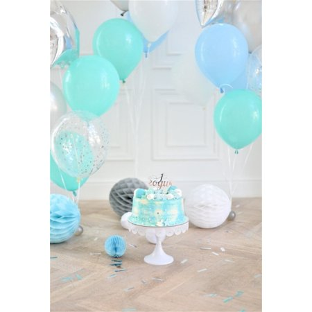 HelloDecor Polyster 5x7ft Birthday Backdrop Sweet Balloon Cake Photography Background Baby Infant Kid Girl Artistic Portrait Party Indoor Decoration Photo Shoot Studio Props Video - Halloween Photo Shoot Ideas For Infants