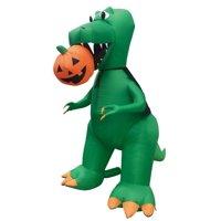 Air Characters 7' Air Blown Inflatable T-Rex Biting Pumpkin Jack-O-Lantern