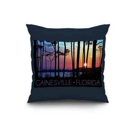 Gainesville Florida Sunset Silhoutte Lantern Press Photography 20x20 S