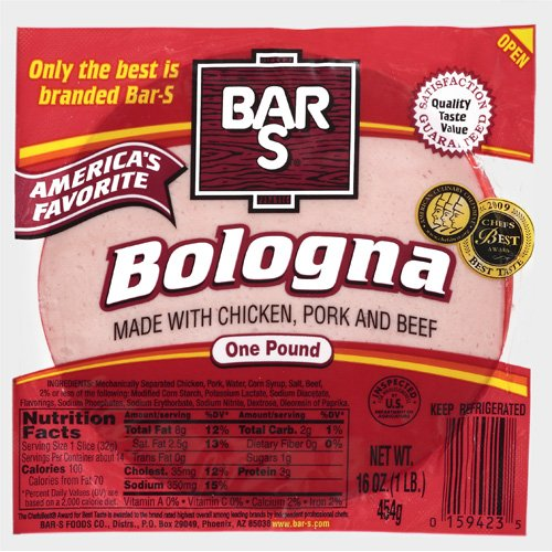 Bar-S America's Favorite Bologna, 16 oz