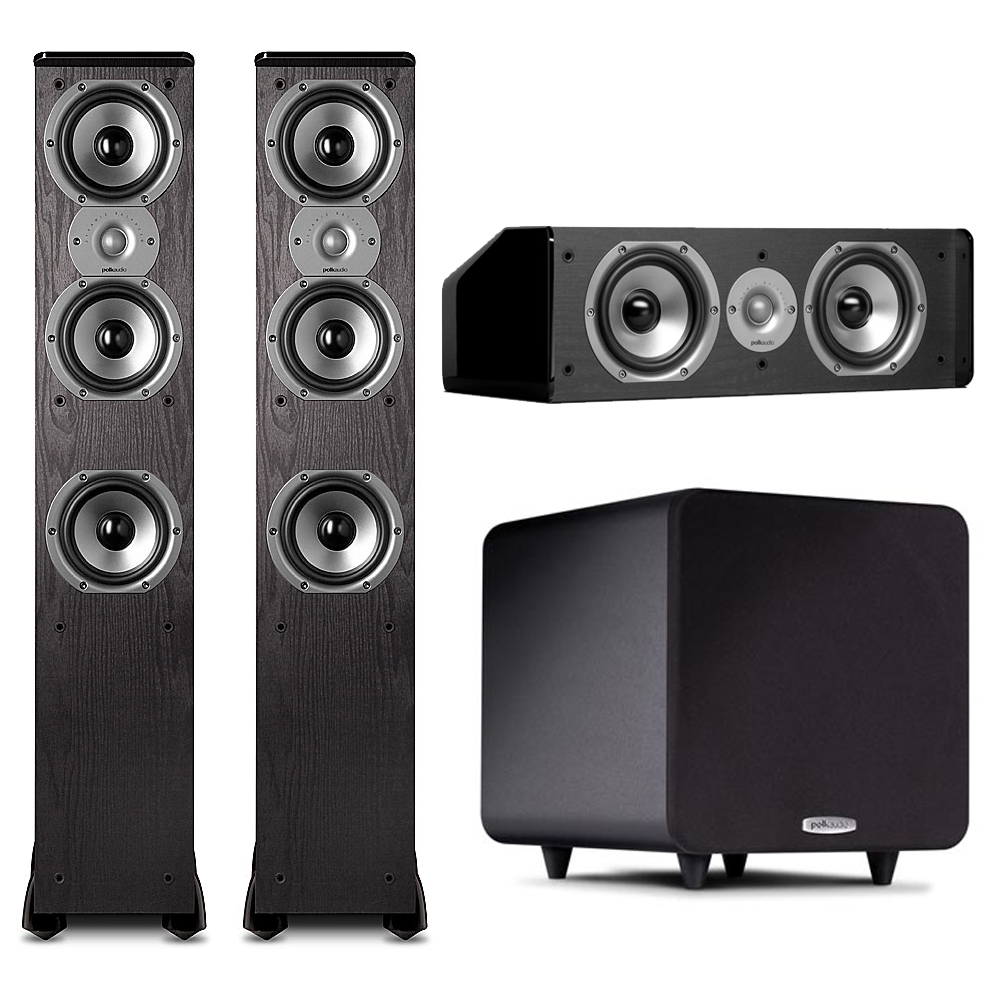 Polk Audio 3.1 System with (2) TSi400 Floorstanding Speakers, CS10 Center & PSW111 Subwoofer by Polk Audio