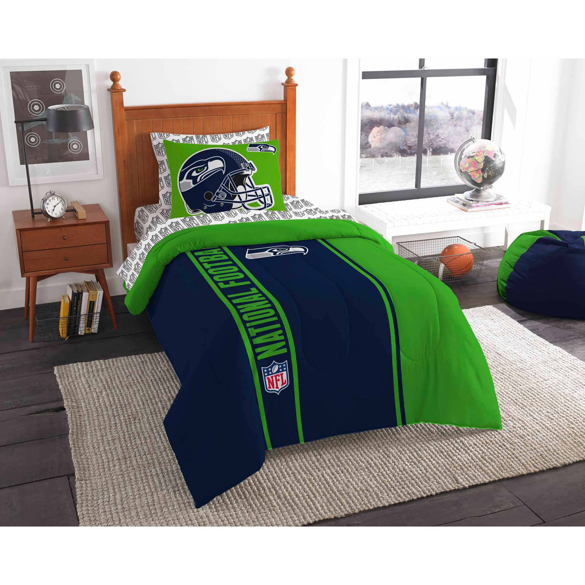 pin prints fabric him her team football table runners for furniture seahawks season gifts seattle