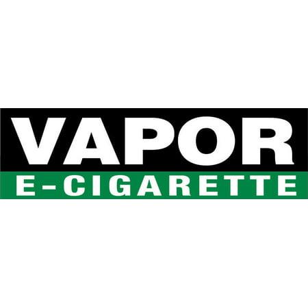 GHP 2'x4' 13 oz Vinyl VAPOR E-CIGARETTE Vinyl Business Banner Sign w Metal (Multi Vapor Metal)