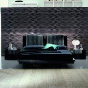 Rossetto Black Diamond Leather Platform Bed