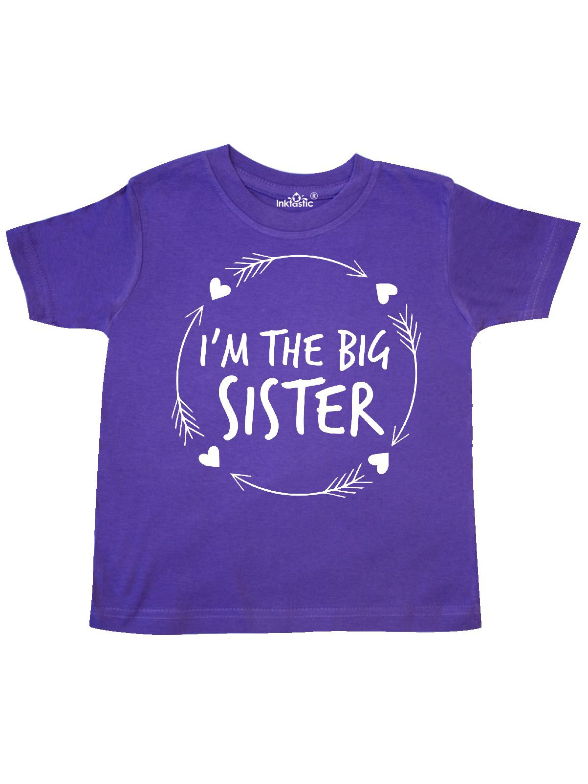 I'm the Big Sister- hearts and arrows Toddler T-Shirt ...
