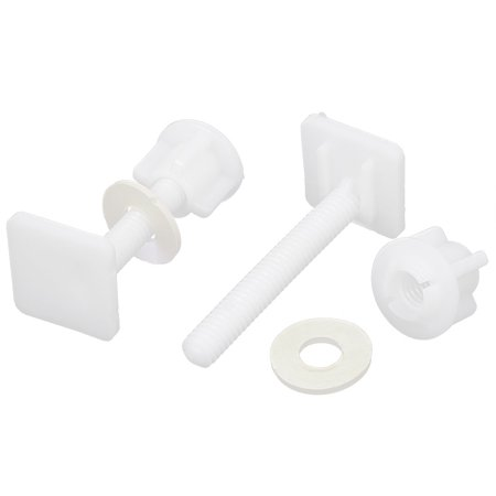 - Uxcell 2pcs White 8mm Thread Square Shaped Toilet  Hinge Bolts Nuts