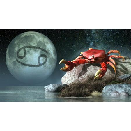 Cancer Is The Fourth Astrological Sign Of The Zodiac Canvas Art   Daniel Eskridgestocktrek Images  19 X 11