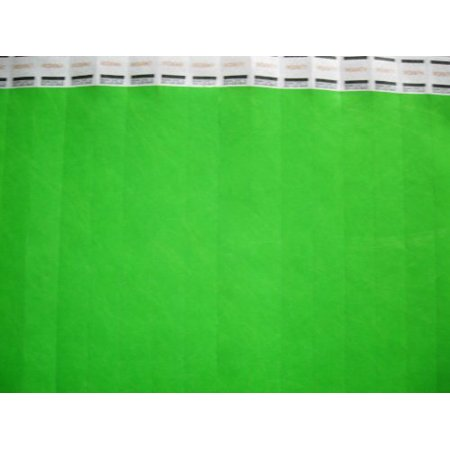 Neon Green Wristbands (100 Solid Neon Green Consecutively Numbered Tyvek Wristbands, 100 Consecutively Numbered Tyvek Wristbands 3/4 inch By School House Cards Ship from)
