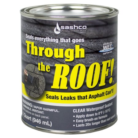 Stained Roof - Sashco Sealants 14023 QT 1-Quart Through The Roof Sealant