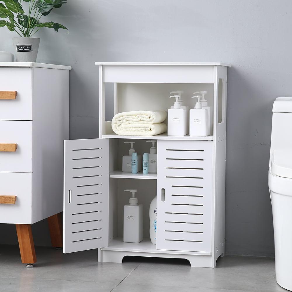 Double Door Double Compartment 80 High Storage Cabinet Free Standing Floor Storage Modern