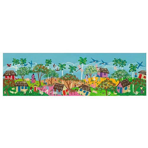 """Trademark Fine Art """"Una Tarde en el Parque"""" Canvas Art by Carlos, 14x47"""