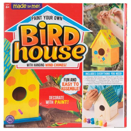 Made by Me Bird House with Wind Chimes Kit, 1 Each](Craft Wood)