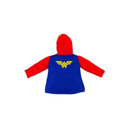 Wonder Woman Costume Puffer Jacket Coat (Toddler Girls)