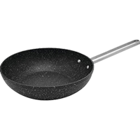 """Starfrit 030279-012-0000 The Rock 7.25"""" Wok Pan, with Stainless Wire Handle"""