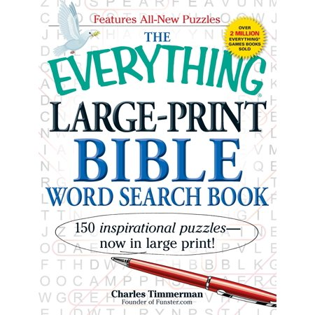 The Everything Large-Print Bible Word Search Book : 150 inspirational puzzles - now in large - Word Search Halloween Easy