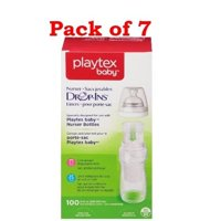 Playtex Baby Nurser Drop-Ins Baby Bottle Disp. Liners, 8 oz, 100 Ct (Pack of 7)